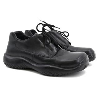 Prada Black Lace Up Shoes