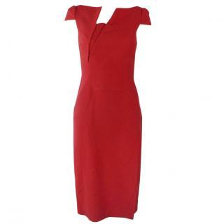 ANTONIO BERARDI Red Stretch-cady dress UK 8
