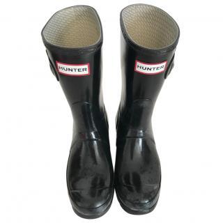 Hunter Short Black Rain Boots