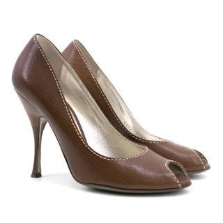 Dolce & Gabbana Brown Leather Heels