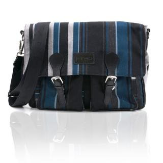 Etro Striped Canvas Messenger Bag