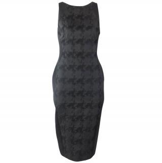 Antonio Berardi Black Contrast Panel Long Dress