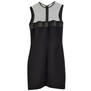 Victoria Beckham Sheer Yoke Fitted Dress