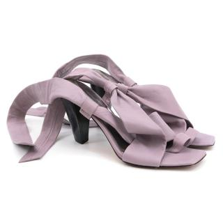 Kenneth Cole Lavender Leather Wrap Up Heels