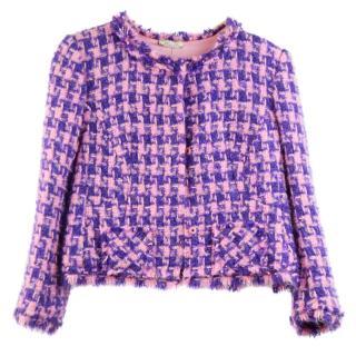 Nina Ricci Purple and Pink Tweed Jacket
