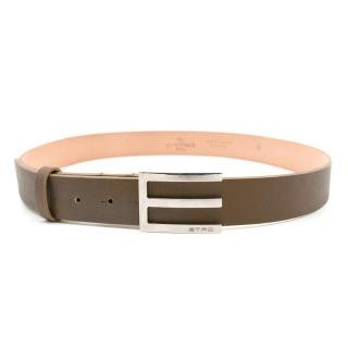 Etro Tan Leather Belt