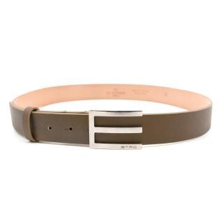 Etro Tan Leather Belt