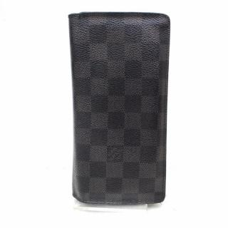 Louis Vuitton Portefeuille Brazza Damier Graphite Long Wallet 10542
