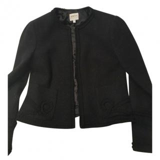 Armani black wool blazer