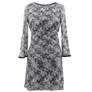Missoni Black and White Low Back Dress