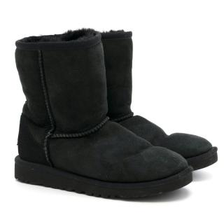 Ugg Kid's Classic Short Black Boots