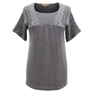 Sandro Grey Knit Top