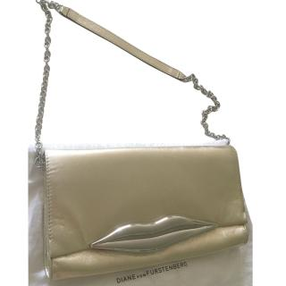 Diane von FURSTENBERG 'Carolina lips' metallic clutch
