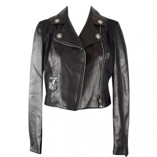 Versus Versus by Versace, Women's Leather studded biker jacket