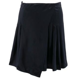 Burberry Prorsum Silk Pleated Skirt