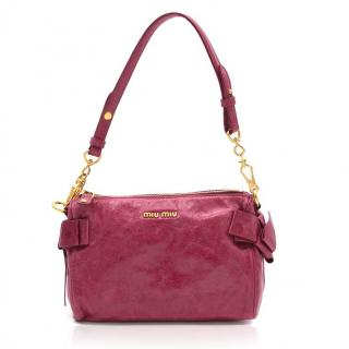 Miu Miu Pink Vitello Lux Shoulder Bag