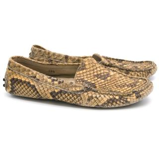 Tod's Snake Skin Loafers