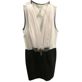 Sandro Sleeveless black and white dress