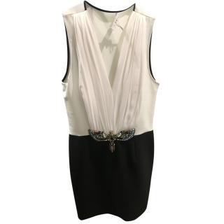 Sandro Sleeveless black and white dress