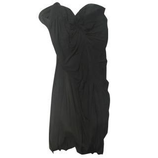 Alexander Wang black strapless dress