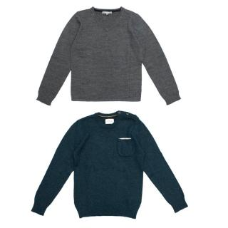 Bonpoint Grey Jumper and Bellerose Blue Jumper Set