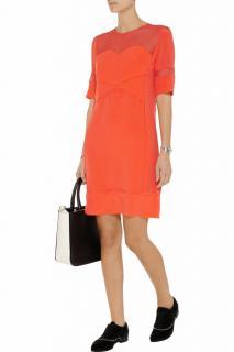 Victoria, Victoria Beckham Silk Panelled Dress