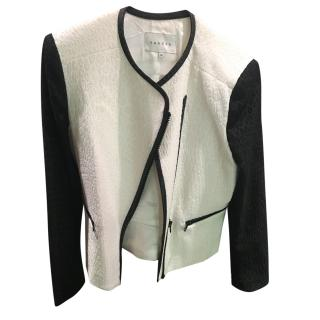Sandro  black and white zipped jacket