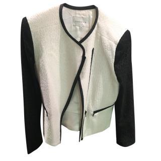 Sandro  black and white zipped jacket