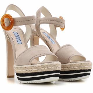 Prada Quartz Suede Sandals