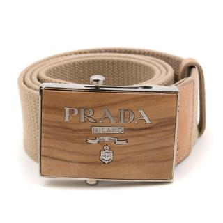Prada Wood Effect Belt