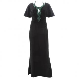 Mikael Aghal Bead-Embellished Crepe Gown