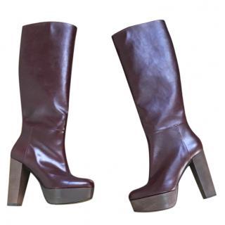 Stella McCartney burgundy boots