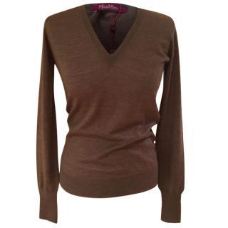 Max Mara very fine v-neck knit shirt
