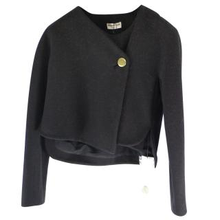 Balenciaga Women's Black Cropped Jacket
