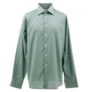 Richard James Savile Row Men's Green Shirt