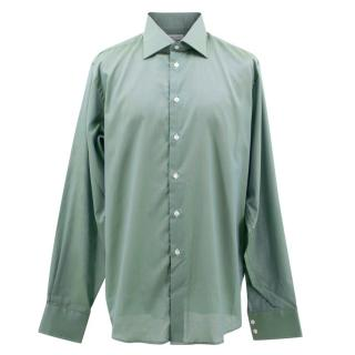 Richard James Savile Row Men's Green Shirt