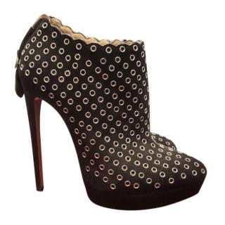 Alaia Scalloped Grommet Shoes boots size 39