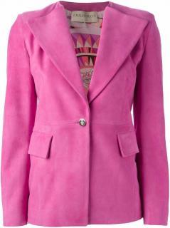 Emilio Pucci Women's Pink Suede Blazer UK 8