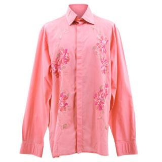 Richard James Pink Flower Shirt