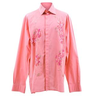 Richard James Pink Flower Shirt