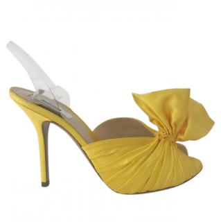 Moschino high heels yellow