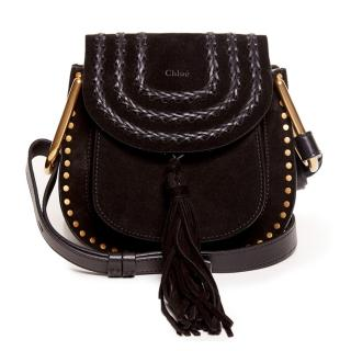 Chloe Hudson Black Leather with suede tassel bag