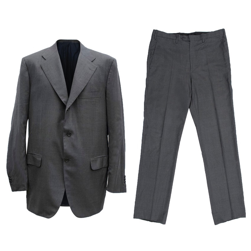 Kiton Wool Check Suit