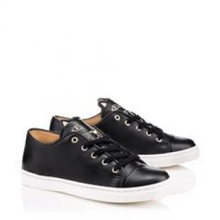 Charlotte Olympia Incy Purrrfect Leather Trainers