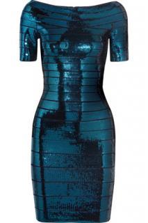 Herve Leger Carmen sequined dress