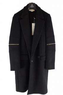 STELLA MCCARTNEY Black Zip Detail Overcoat