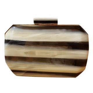 Stella McCartney Lucia Plexi clucth handbag