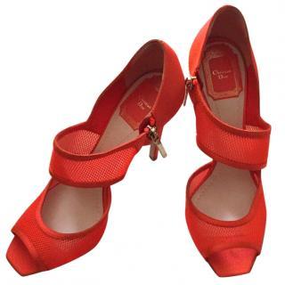Dior Coral Heeled Sandals