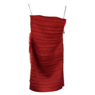 Lanvin Red Strapless Dress