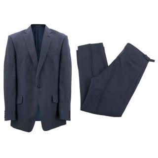 Richard James Men's Blue Linen Suit